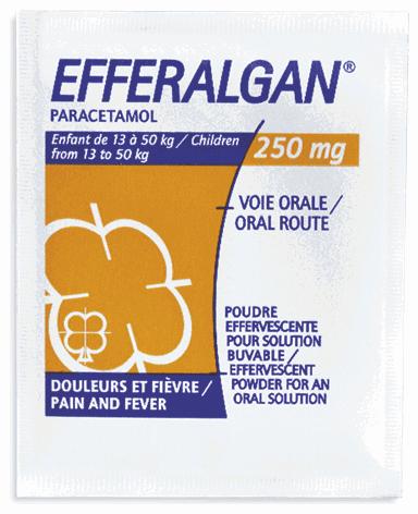 Thuốc hạ sốt Efferalgan 250mg