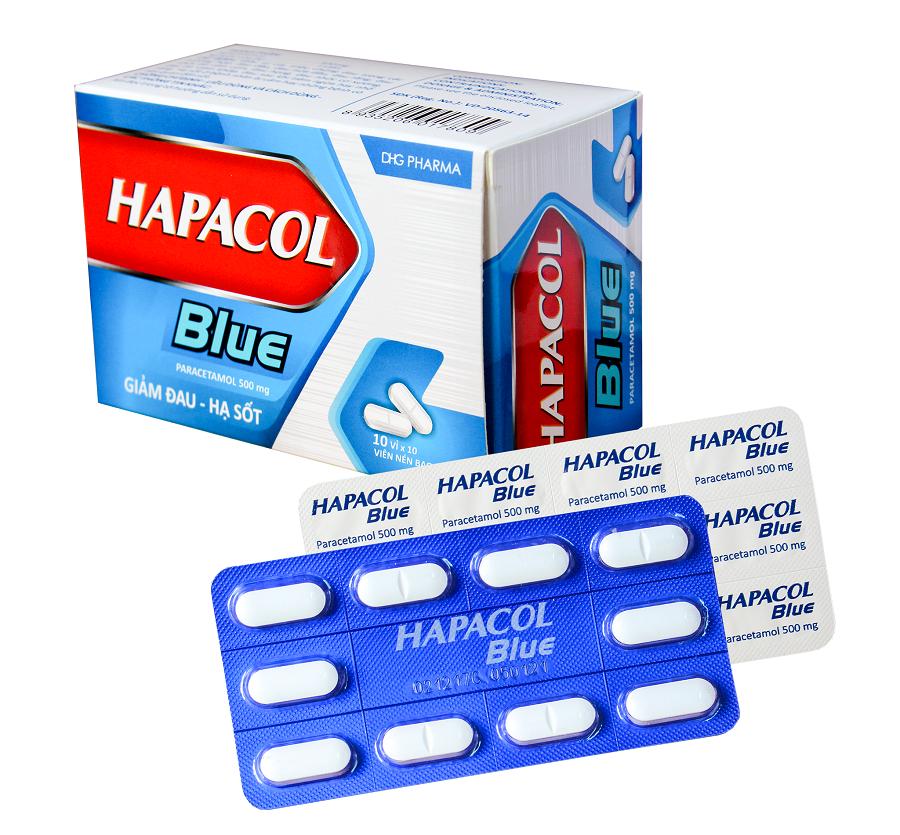 Thuốc giảm đau, họ sốt hapacol blue có tốt không?