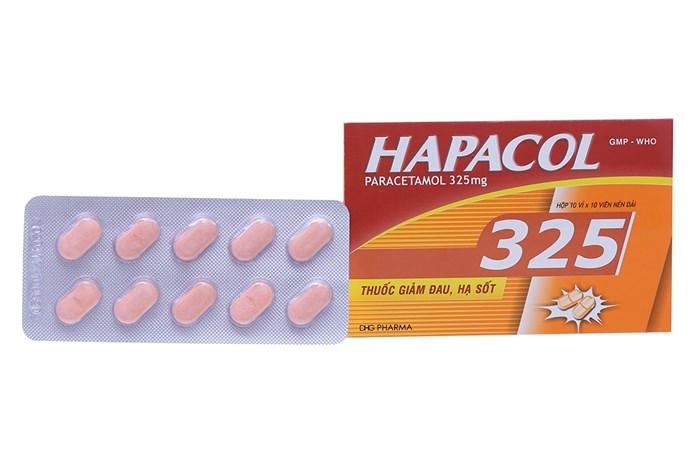 Thuốc hạ sốt dành cho trẻ em hapacol 325mg có tác dụng gì?