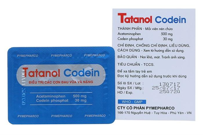 Thuốc hạ sốt tatanol codein là thuốc gì, giá bao nhiêu?